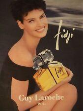 PUBLICITÉ 1994 FIDJI DE GUY LAROCHE PARIS - ADVERTISING