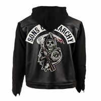 SOA Sons of Anarchy Hooded Biker Club Leather Jacket