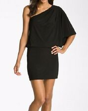 Jessica Simpson Dress Sz XS Black One Shoulder Blouson Cocktail Dinner Dress