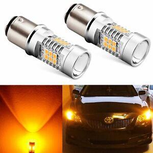 JDM ASTAR 1157 BAY15D Amber PX SMD High Power LED Turn Signal Blinker Light Bulb