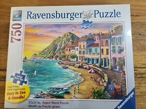 Sunset Jigsaw Puzzle 750pc ravensburger Extra Large Pieces Game Ocean Beach Boat