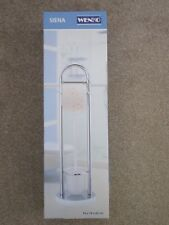 Wenko Free Standing Toilet Brush and Toilet Roll Holder Siena Chrome