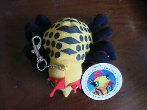 1998 MISS SPIDER Plush Callaway & Kirk Original Keychain, new tags 4-5 inches