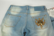 $350 GF Ferre womens faded effect stretch jeans pants size 27 NWT
