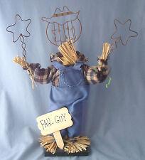 "17"" Fall Guy Scarecrow Halloween Autumn Thanksgiving figurine decoration straw"