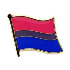 """BISEXUAL PRIDE FLAG LAPEL PIN 0.5"""" Bi Gay Lesbian LGBT Hat Tie Tack Badge"""