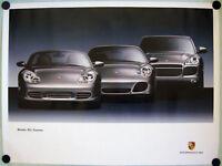 PORSCHE OFFICIAL DEALER BOXSTER 911 996 CAYENNE SHOWROOM POSTER 2003