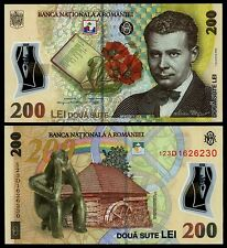 ROMANIA 200 LEI 2006 ( 2012 ) POLYMER NOTE P#122 UNC
