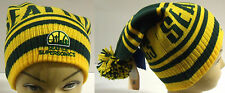 NWT NBA Seattle Supersonics Adidas Fall Back Pom Winter Knit Hat Beanie Cap OSFA