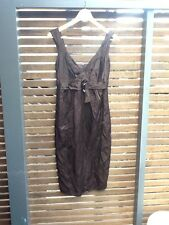 Great Veronica Maine Sz 6 Chocolate Dress Designer
