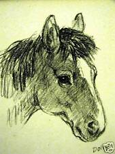 Lucy Dawson 1946 DOLLY Vintage HORSE Art Print Matted