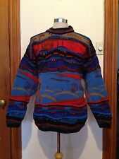 COSBY COOGI STYLE AUSTRALIA WOOL GOLF SWEATER MEN'S LARGE CORROBOREE