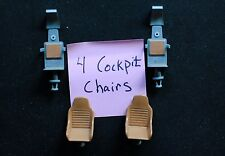 Star Wars Legacy Millennium Falcon Parts Cockpit Chair Seat Set of 4 Replacement