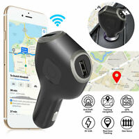 Real-Time Vehicle GSM Tracking Device Truck Car Charger GPS Tracker Live Audio
