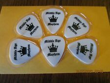 6 Pack Middle Age Mayhem Black and White Guitar Picks - InTune Gp Gripp X .60Mm