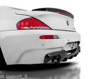 BMW E63 SPOILER 6 SERIES V ABS BOOT TRUNK M6 CSL REAR PERFORMANCE LIP UK SELLER