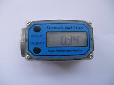 "1"" 200L/Min Turbine Digital Diesel Fuel Flow Meter Oval Gear Flow Gauge BSPT/NPT"