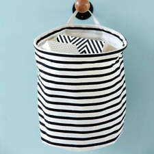 House Doctor Storage Basket Stripes Bathroom Playroom Decor Living Room