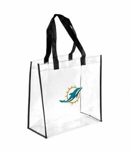 Miami Dolphins Clear Reusable STRAP TOTE Bag PACK NFL GAMEDAY STADIUM approve