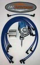 DODGE 440 73-78 BLUE Small Female Cap HEI Distributor + 60K Coil + Plug Wires