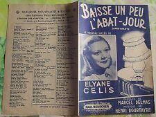 Ancienne Partition Baisse un peu l'Abat-Jour Tango Chanté Eliane Celis