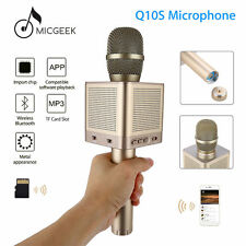 Genuine Gold MicGeek Q10S Wireless Microphone Bluetooth Karaoke Player Portable