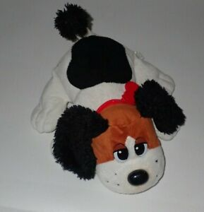 "Vintage 2007 Pound Puppy Black White Brown 12"" Electronic Barking"