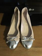 Unisa Nude Silver Wedges shoes size 5 Eu38 geniune leather