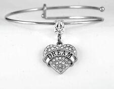 Dream Bracelet  Dreamer bracelet  Dreams come true bracelet  Crystal Heart