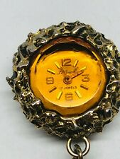 Vintage LeGran 17 Jewels Wind Up Mechanical Necklace Pendant Watch WORKS
