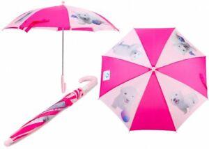 Childrens Kids Speedy Eisbar Flocke Walking Umbrella Rain Sun School Parasol