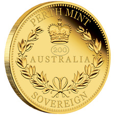 Australien 25 Dollar 2019 Australian Sovereign 200.Geb. Königin Victoria Gold PP