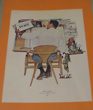 Norman Rockwell NEW LOGO & DO UNTO OTHERS 1961 Original Book Pressing Print