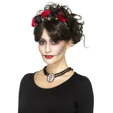 Day Of The Dead Choker Ladies Halloween Jewellery Fancy Dress Accessory