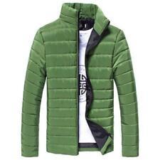 Men Winter Thick Warm Coat Stand Collar Cotton Padded Outwear Zipper Jacket Coat