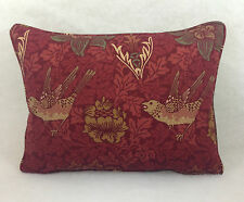 "William Morris- Bird Anemone Cushion Cover - 16"" x 12"" Self Piped"