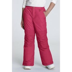 Lands End NWT Girls Pink Squall Snow Pants Size 14