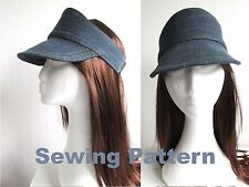 golf tennis adult kids head sun visor hat adjustable SEWING PATTERN PDF FILES