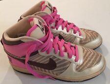 Nike Women's High Top Gold Zebra Pink Classic Women's Size 9 Hi Sneakers Shoes