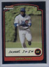 2003 Bowman Chrome Sammy Sosa #7 Refractor Cubs SP