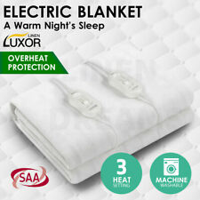 Luxor Fully Fitted Electric Blanket Heated Pad Winter Underlay 5 Size