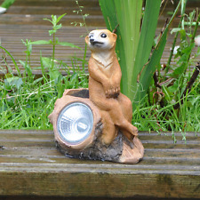16cm Usa Energía Solar Jardín Y Patio Iluminación Decorativa Suricata