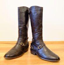 Stunning Belstaff Trialmaster Antique Brown/Black Leather Boots UK 4.5 EU 37
