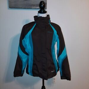 Spyder Ski Jacket Blue And Brown Womens Size 14