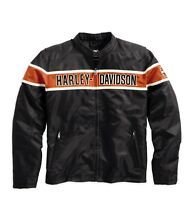 Harley-Davidson Generations Jacket * Gr. M - Textil Nylon Jacke schwarz orange