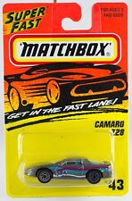 Matchbox Mb 43 Camaro Z-28 Gray New on Card 1996