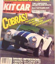 Kit Car Magazine Cobras Track Tests & Kits May 1985 073117nonrh