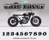 Numero adesivo vintage Cafe Racer Scrambler Bobber Brat stickers moto pegatinas