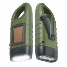 2 Packs Simpeak Hand Crank Solar Powered Rechargeable LED Flashlight, US seller