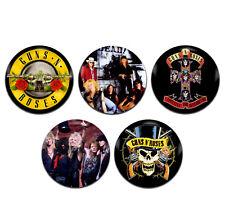 5x Guns N Roses Band Rock 25mm / 1 Inch D Pin Button Badges